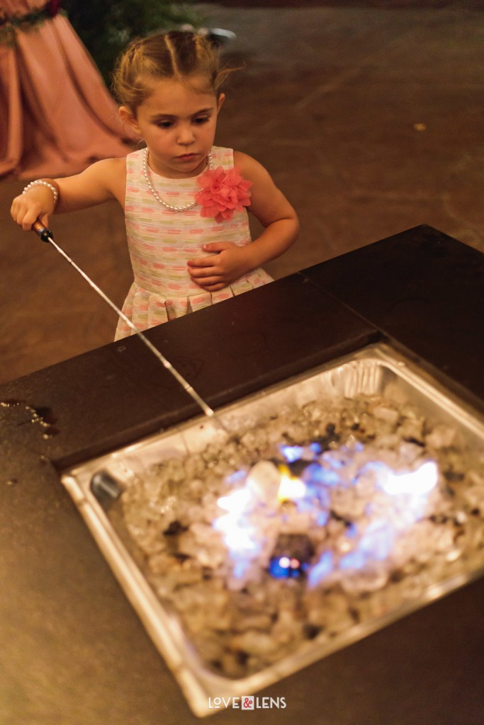 flower girl cooking smores
