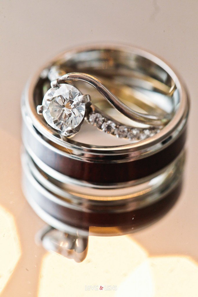stunning wood wedding rings