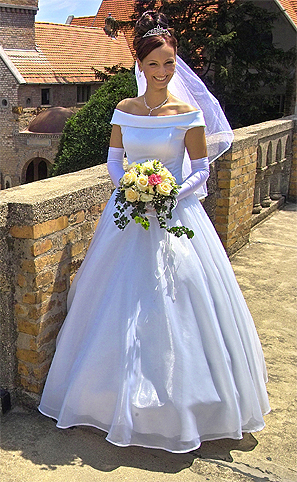 wedding dress style with gloves
