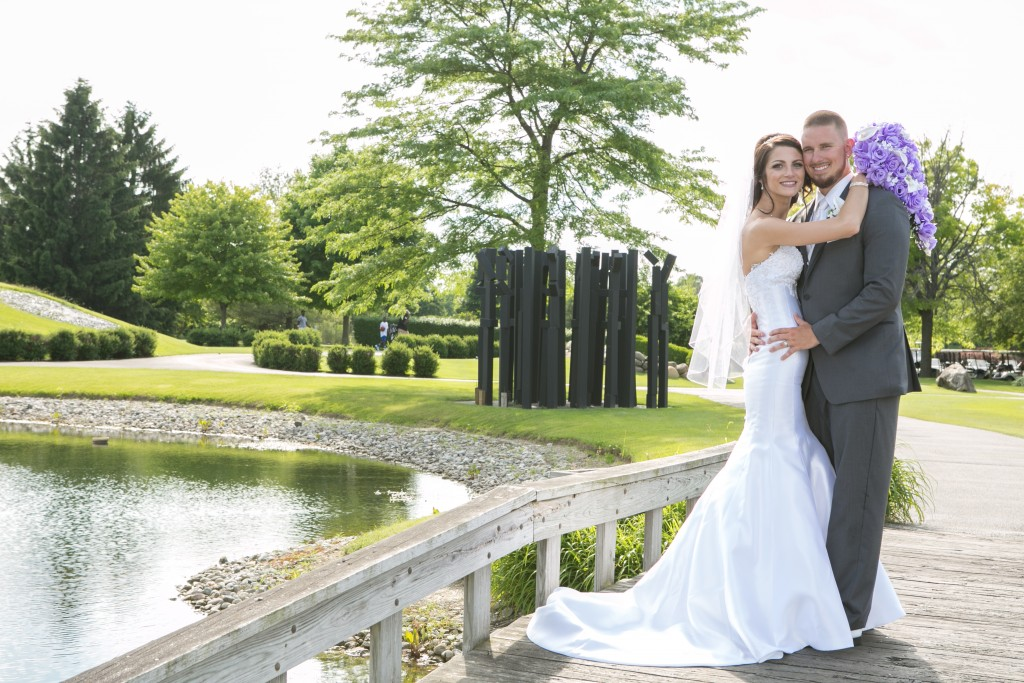 Wedgewood Weddings North Shore couple on the bridge