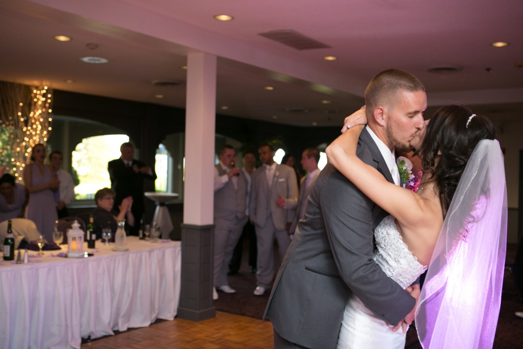 Wedgewood Weddings North Shore couple kissing on the dancefloor