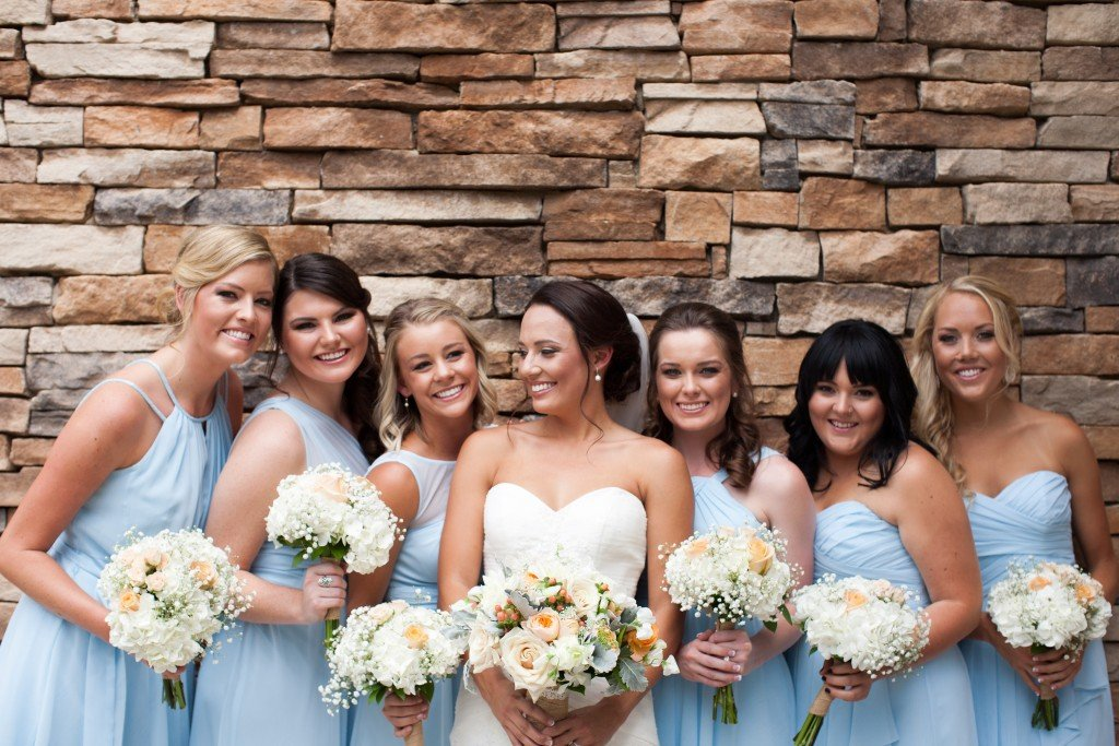 bride and bridesmaids at wedgewood weddings ken caryl