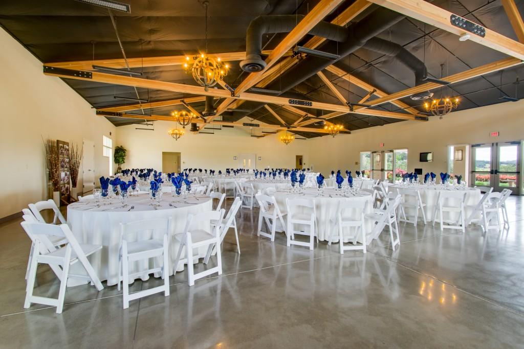 beautiful reception space david girard vineyards