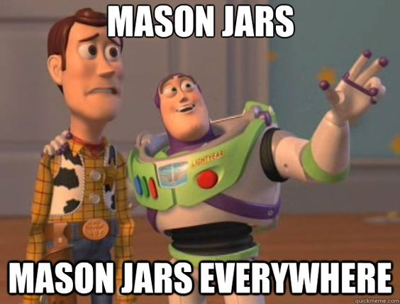 mason jars wedding meme