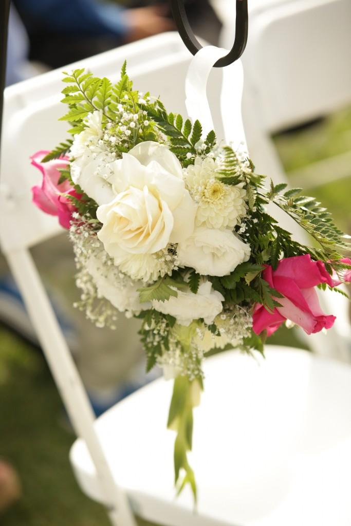 aisle floral arrangement at Wedgewood Weddings