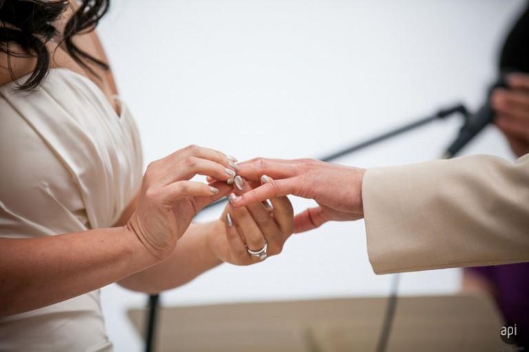 Ceremony Ring Exchange with Wedgewood Weddings