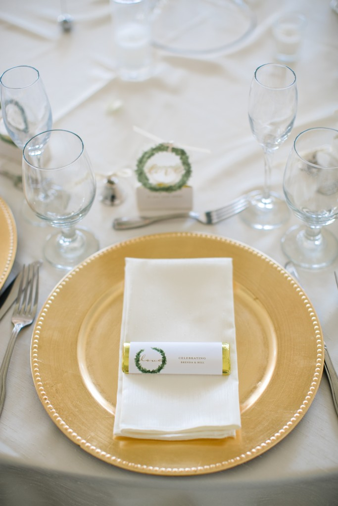 table linens with a treat