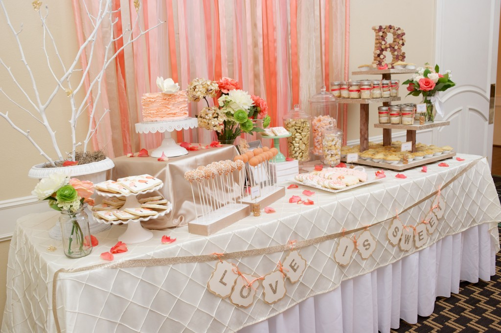 love is sweet wedding dessert table