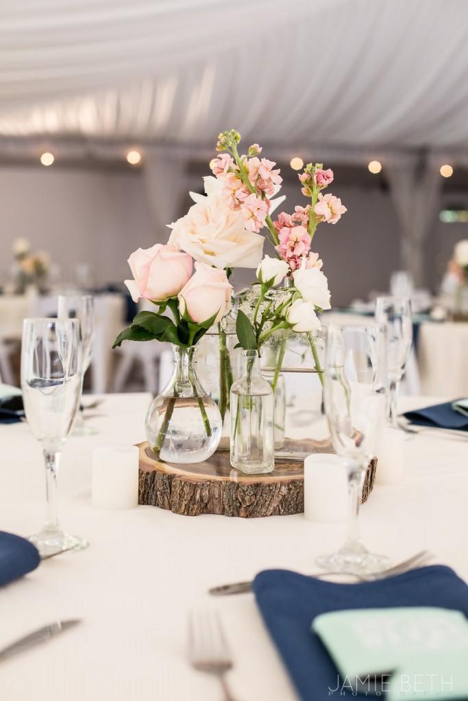 diy Wedgewood Weddings centerpiece
