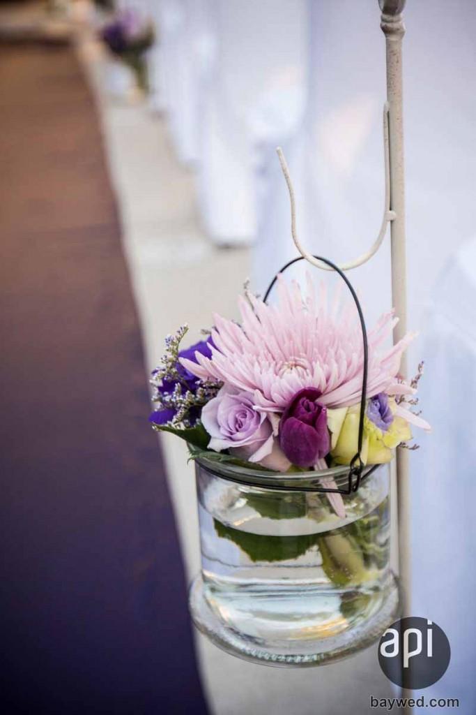 cute wedding aisle flowers