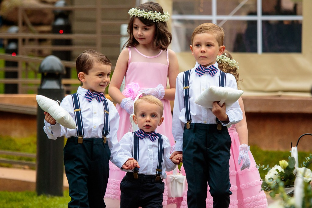 flowergirl and ring bearers