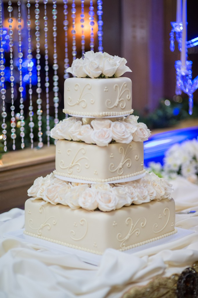 gorgeous white tier Wedgewood Weddings cake