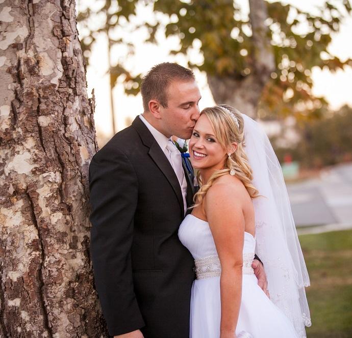 bride and groom wedding venue saving