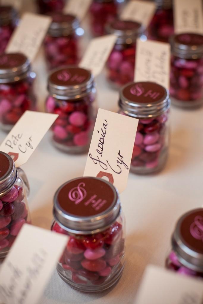 wedding favors mason jars at Wedgewood Weddings