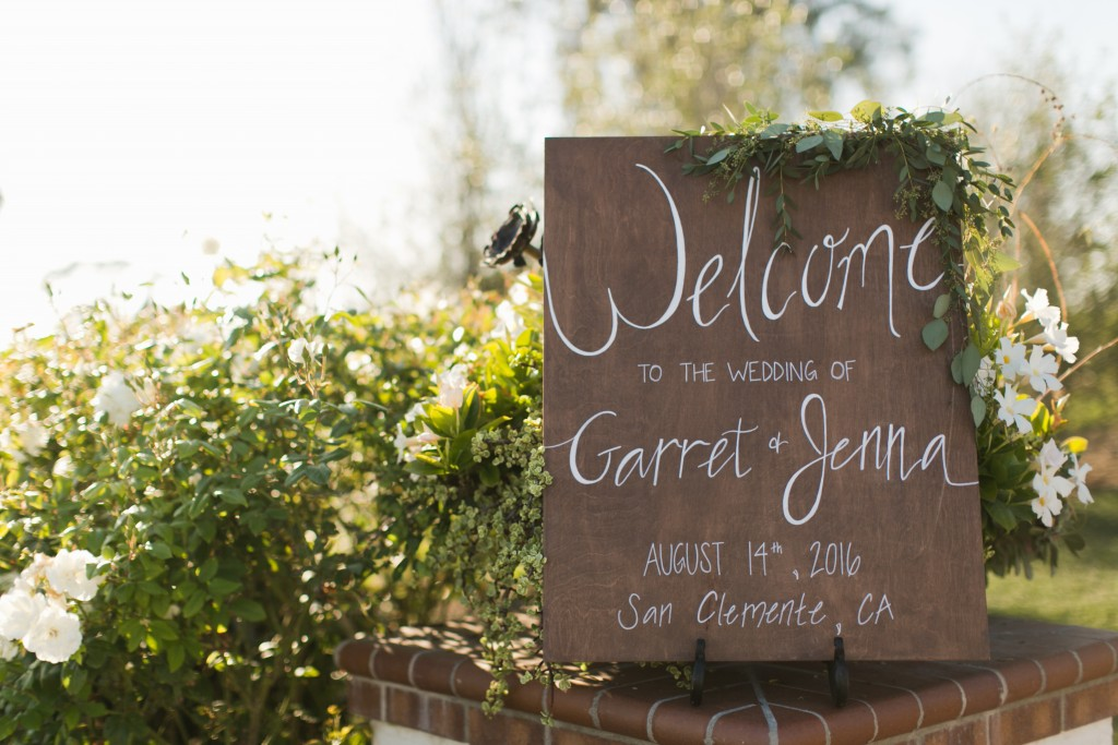 rustic wedding wooden decor entrance sign