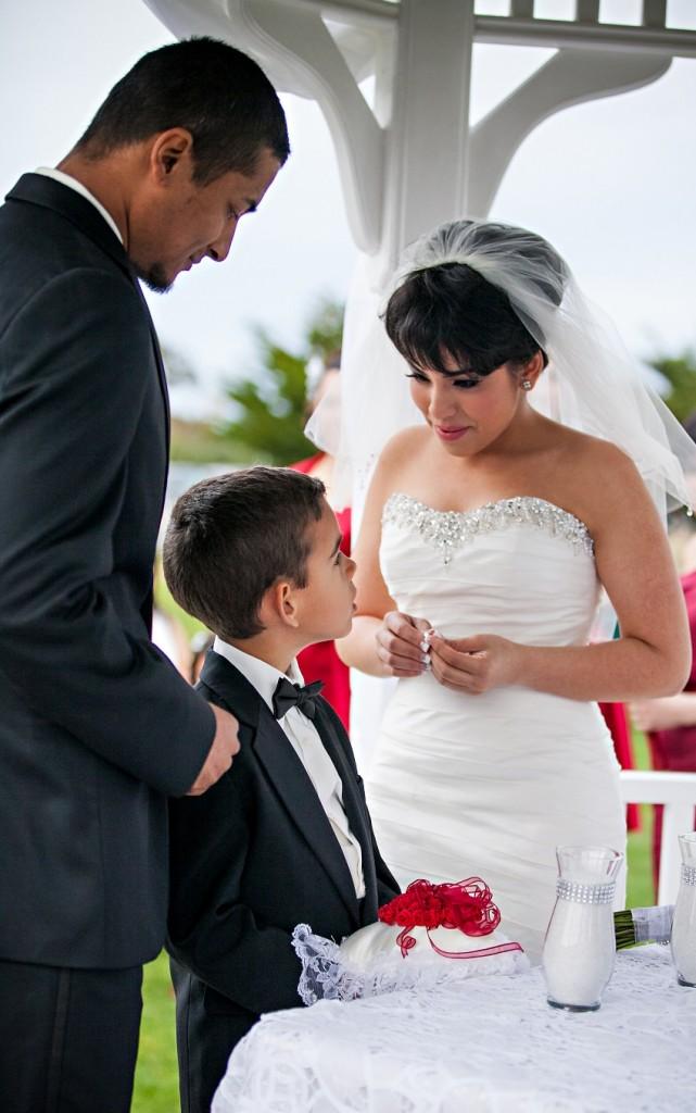 bride and groom at Wedgewood Weddings