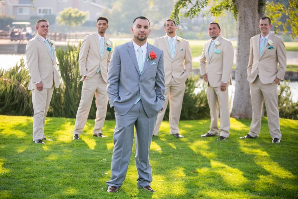 groom and groomsmen standing together at San Ramon by Wedgewood Weddings