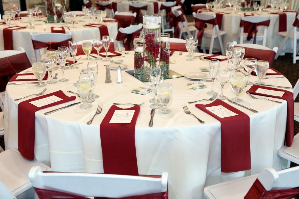 red wedding reception theme