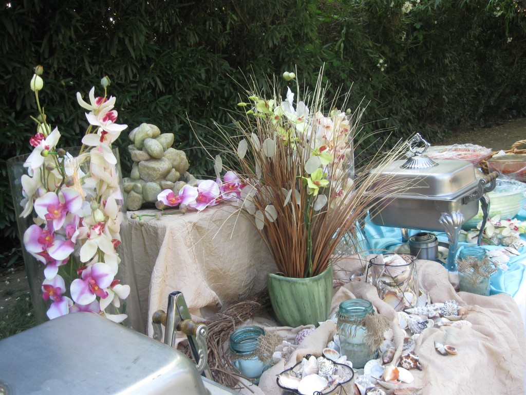 buffet table at Wedgewood Weddings with beach theme