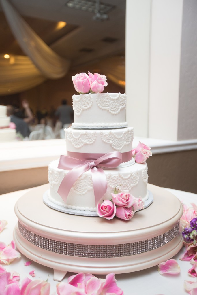 stunning elegant pink and white tier Wedgewood Weddings  cake