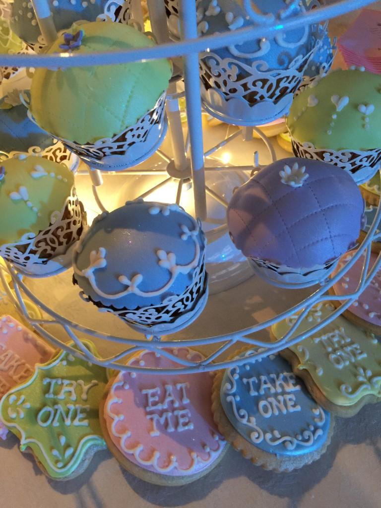 colorful wedding dessert table