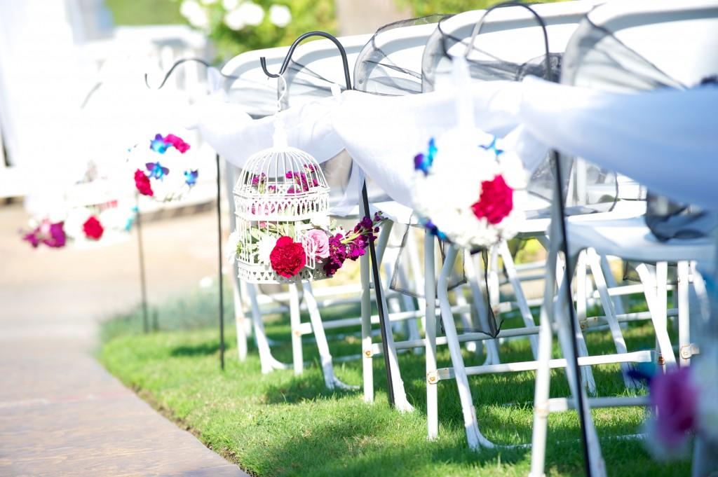 colorful wedding aisle at Wedgewood Weddings