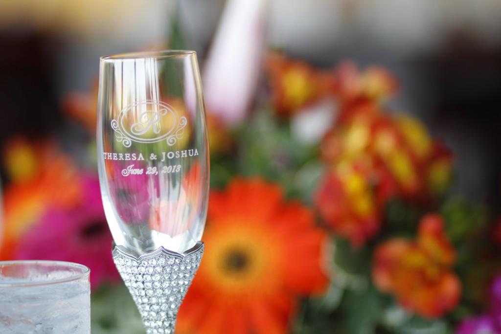 engraved wedding glass at Wedgewood Weddings