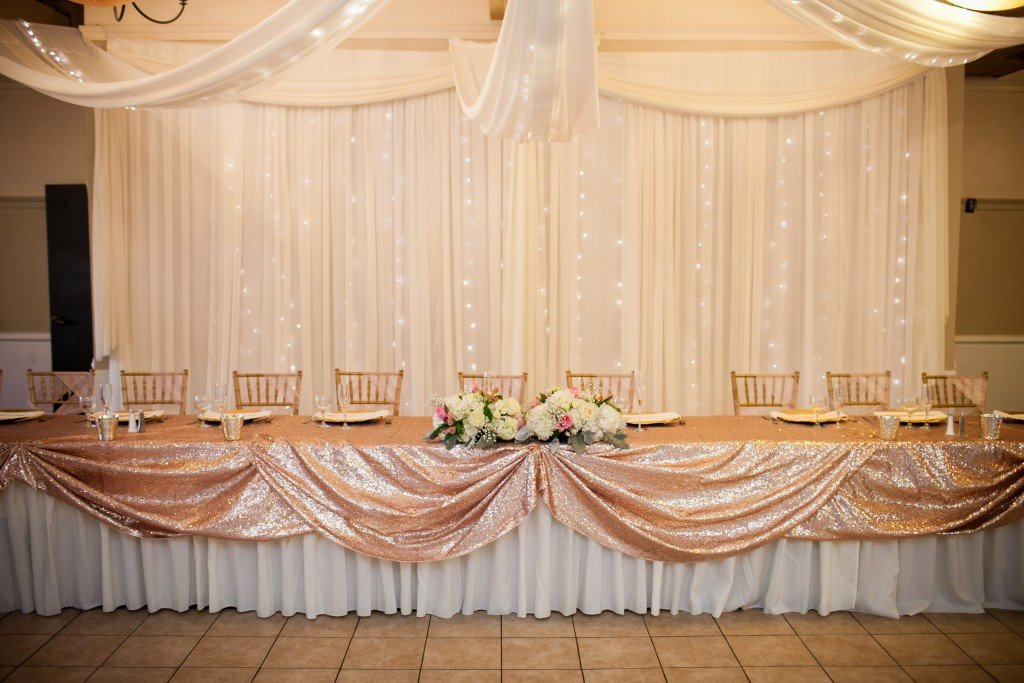 gorgeous sequin wedding at Carmel wedding venue