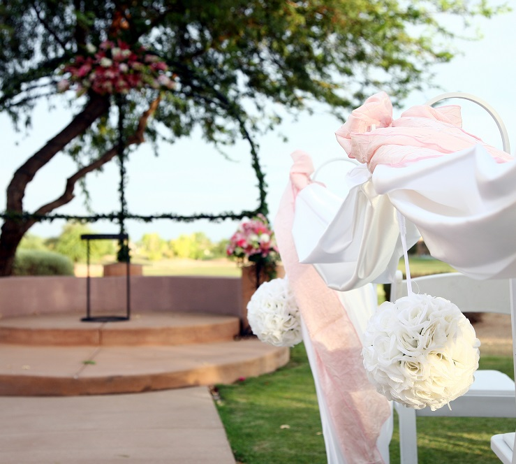 gorgeous Wedgewood Weddings ceremony décor