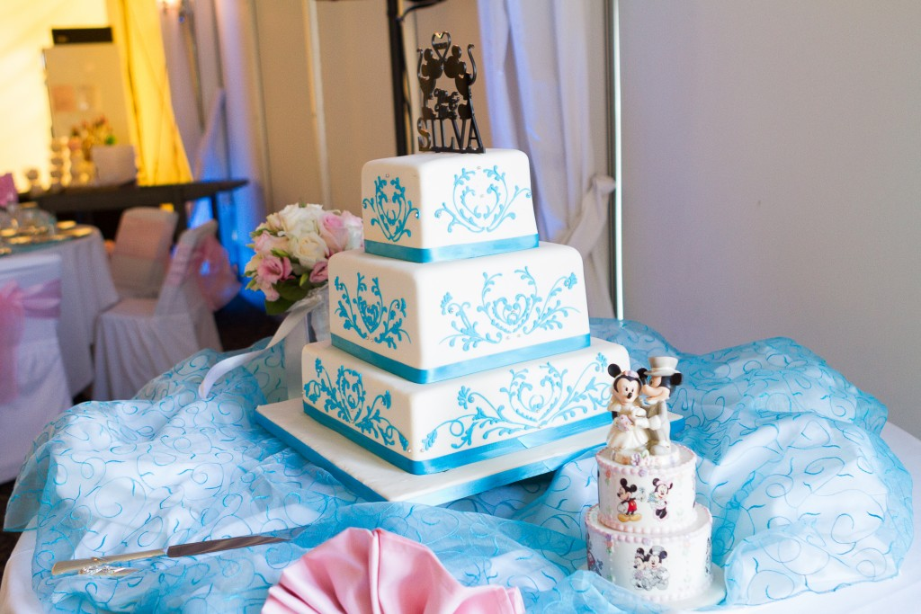 disney themed wedding cake topper