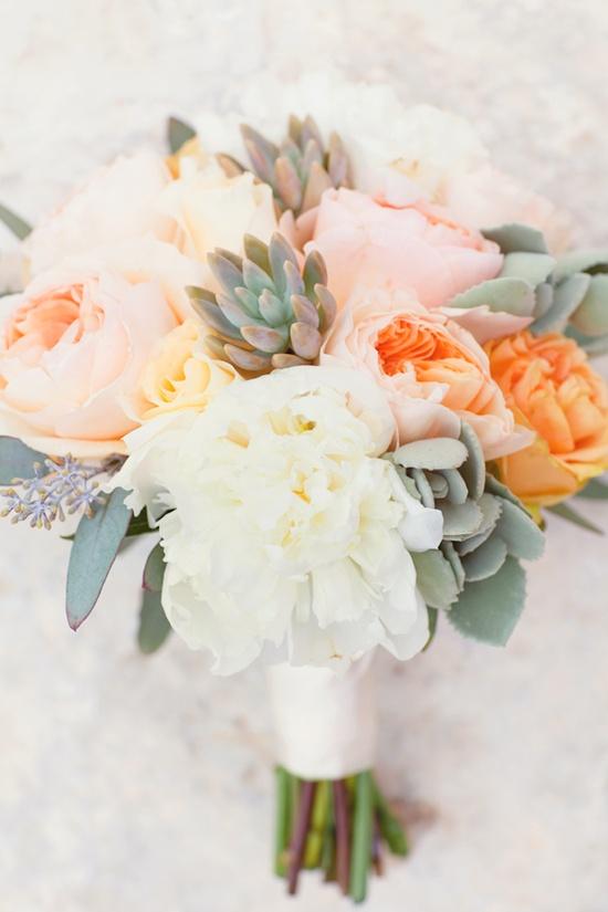 peony succulent bouquet gorgeous wedding flowers