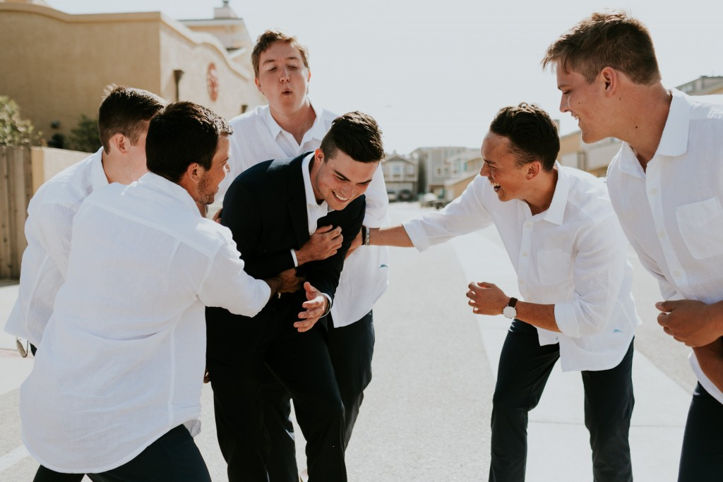 groom and groomsmen ventura beach wedding