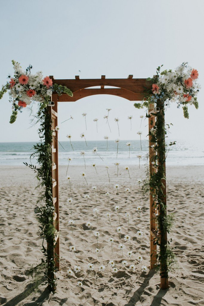 stunning sand beach wedding santa barbara california