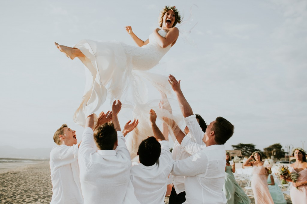 santa barbara california beach wedding gorgeous bride