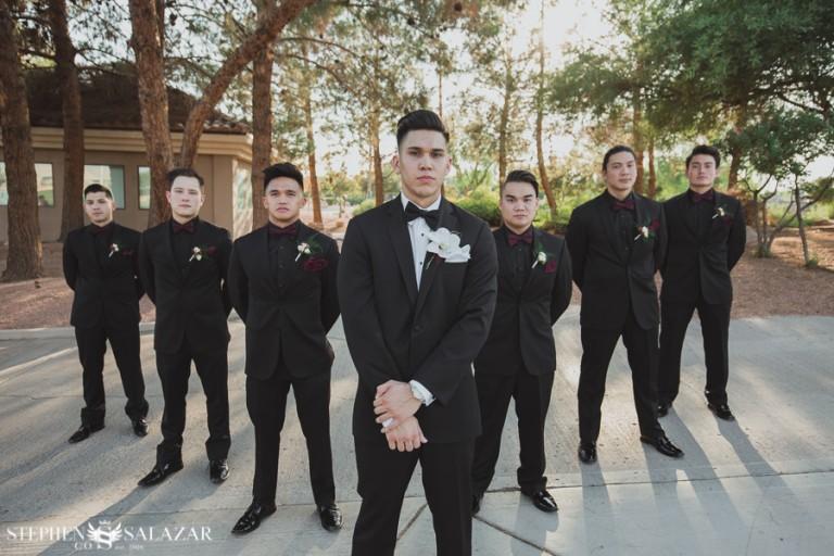 wedgewood wedding las vegas groomsmen