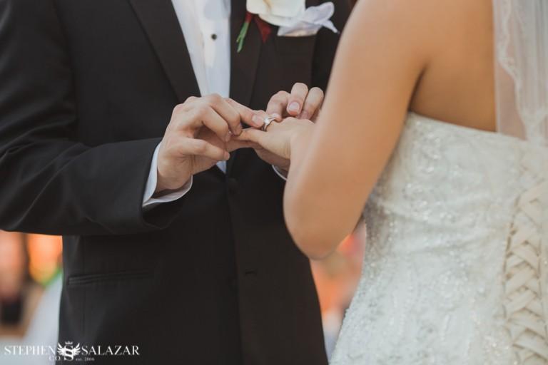 wedgewood weddings las vegas bride and groom ring ceremony