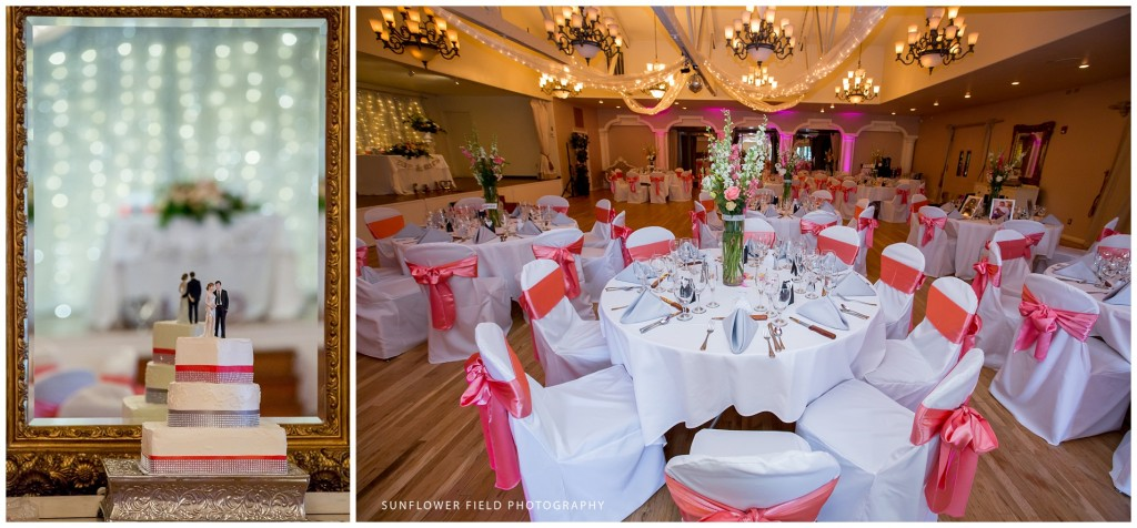 pink Wedgewood Weddings Sequoia Mansion reception décor