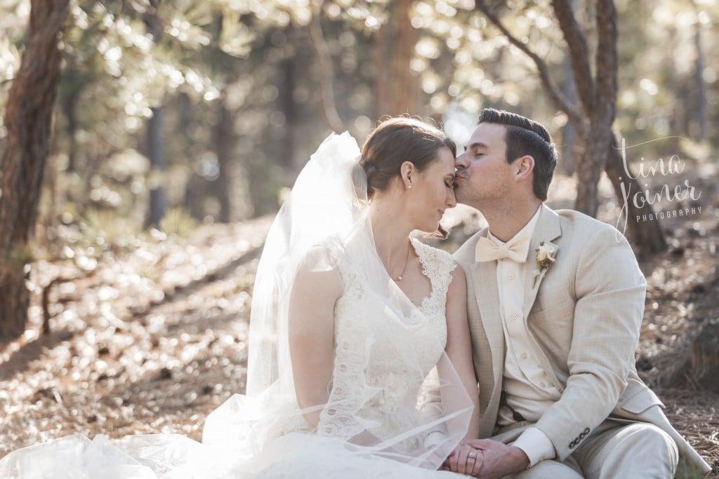 Bride & Groom in Woods | Wedgewood Weddings