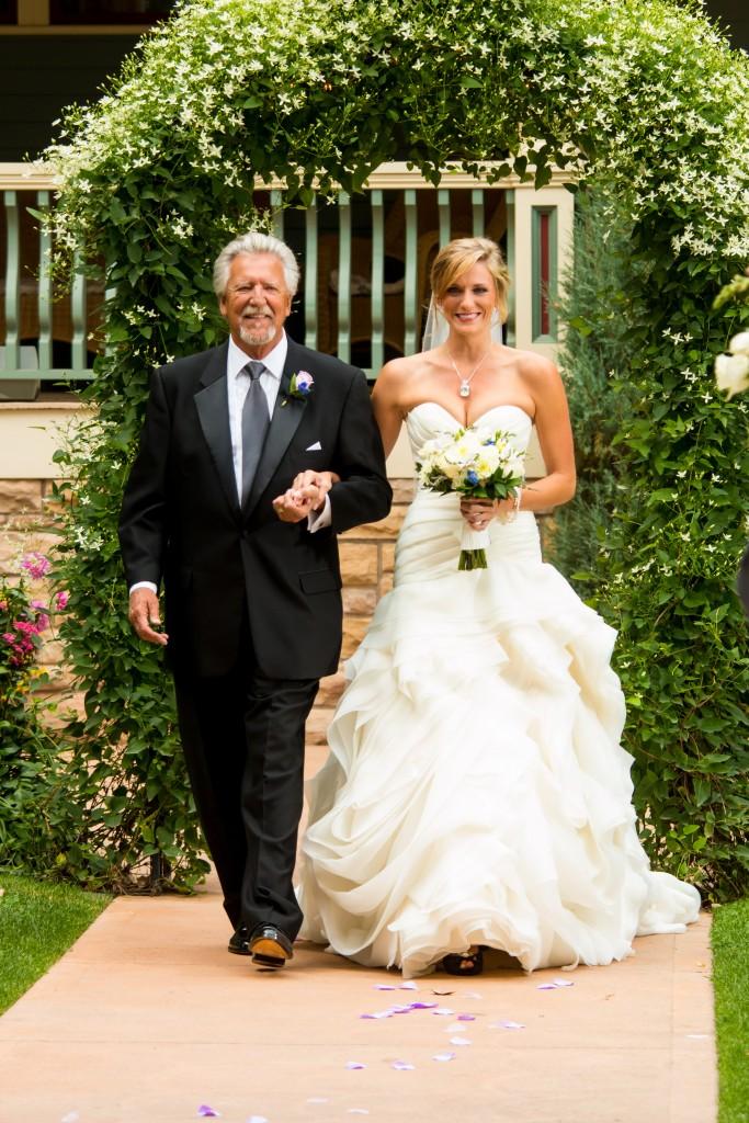 dad walking bride down aisle at Wedgewood Weddings