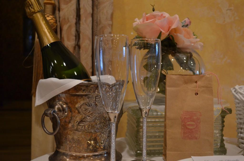 gorgeous champagne flutes