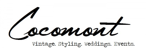 cocomont vintage styling wedding events logo