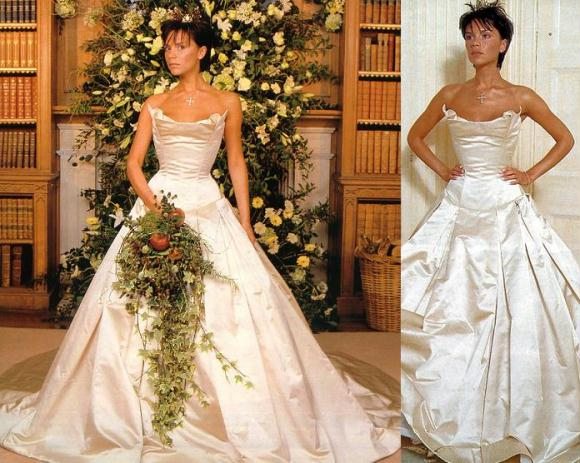 victoria beckham in her wedding dress