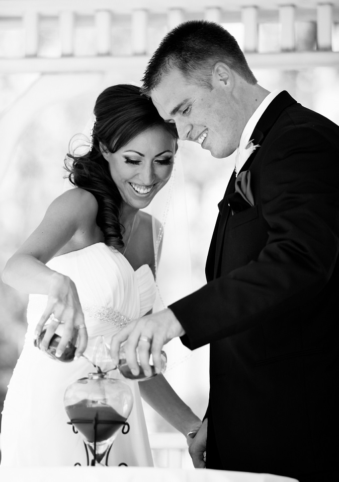 sand ceremony at Wedgewood Weddings