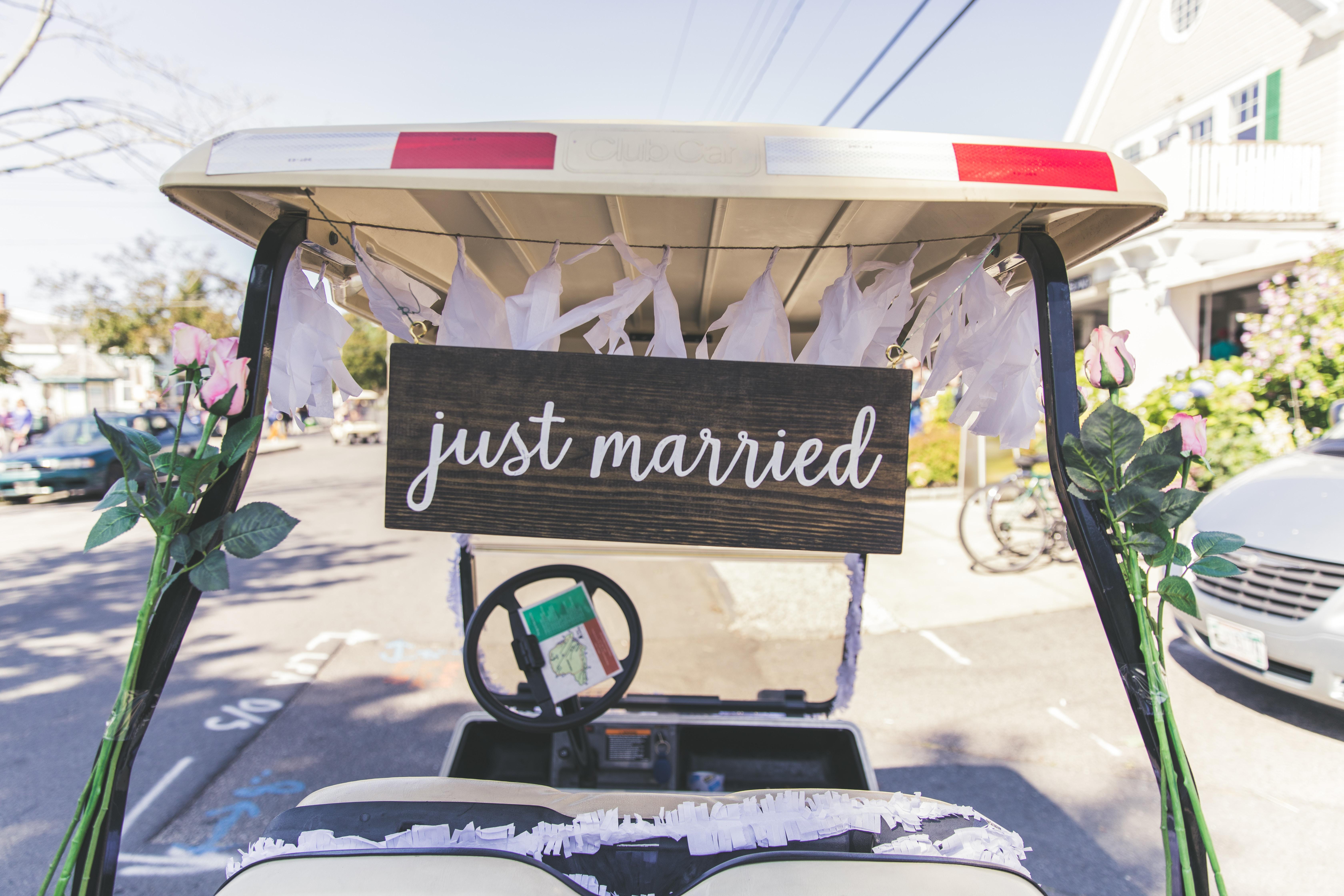 Wedgewood Weddings Just Married Getaway Car