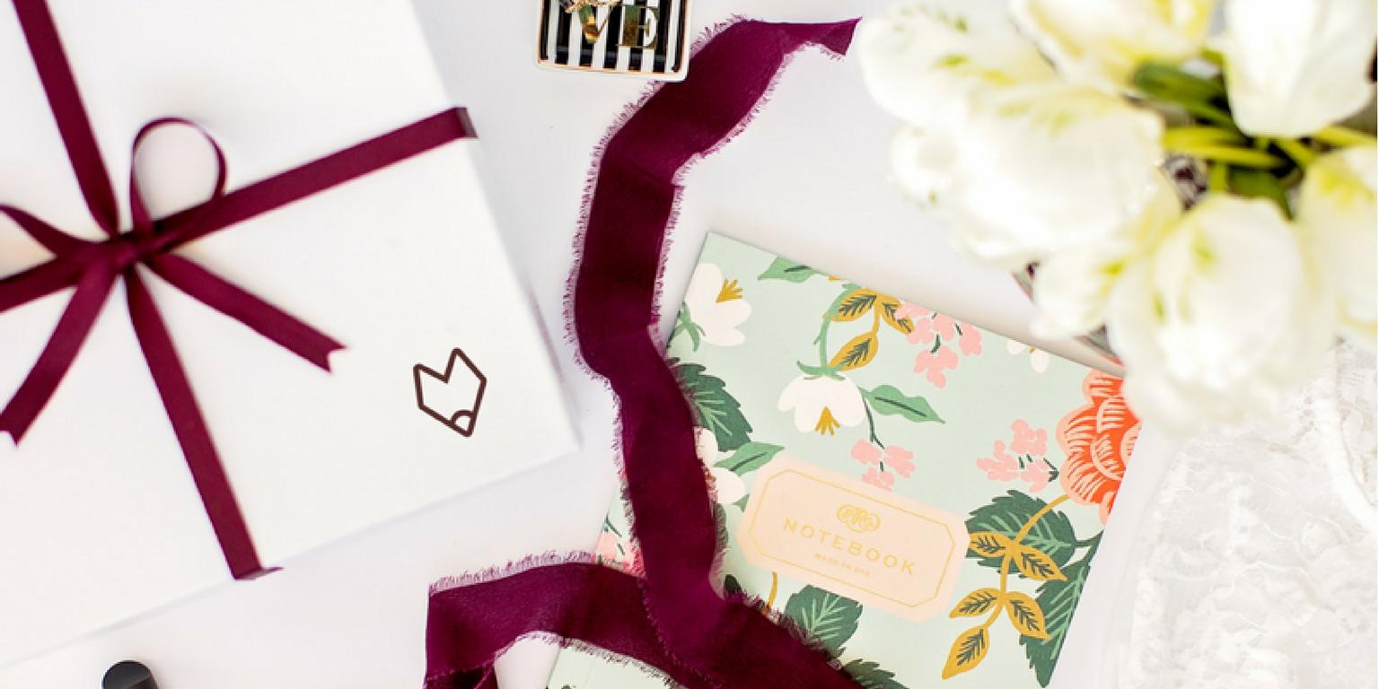 Burgundy Fox Gift Box