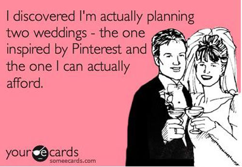 pinterest wedding planning meme