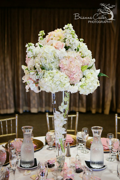 tall floral centerpiece at Wedgewood Weddings