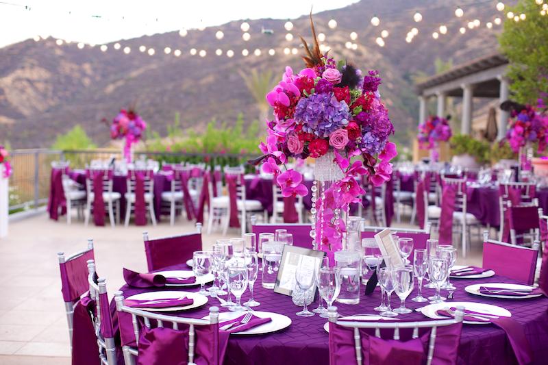 Vellano by Wedgewood Weddings bright wedding color scheme