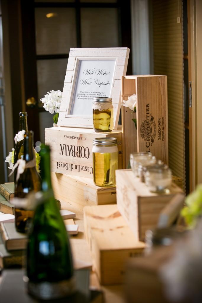 wedding wine table