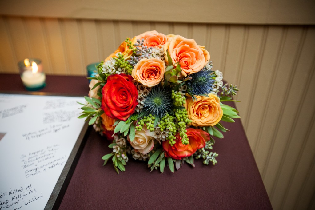colorful wedding bouqet